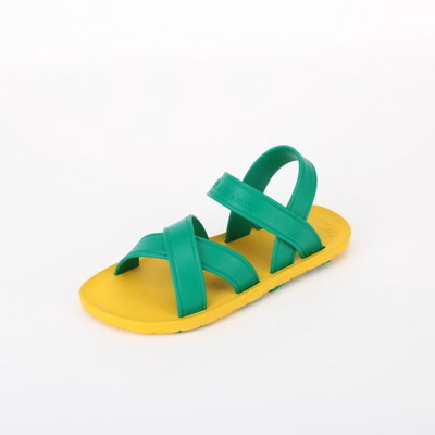 KIDS MC06 Cross Sandal, Yellow-Green