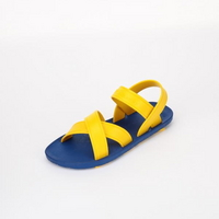 KIDS Cross Sandal, Blue-Yellow