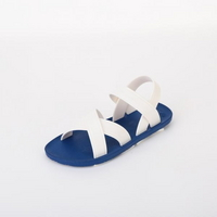 KIDS Cross Sandal, Blue-White
