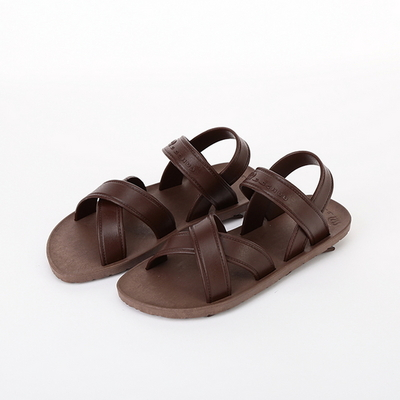 KIDS Cross Sandal, Brown-Chocolate