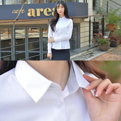 [교복사이즈] 프리미엄 각카라 그레이 화이트 셔츠