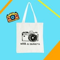찰칵 카메라 캔버스백 에코백 보조백 쇼퍼백 가방