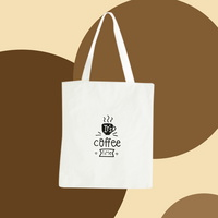 커피타임 캔버스백 에코백 보조백 쇼퍼백 가방