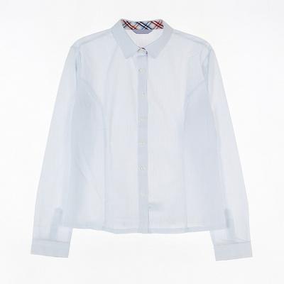 [교복아울렛] 얇은줄 스트라이프 동복 블라우스 교복