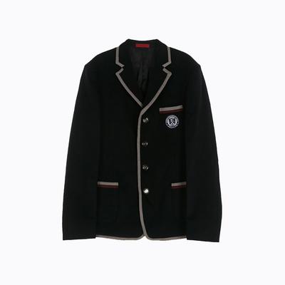[교복아울렛] 그레이 와인포인트 라인 남자자켓 교복