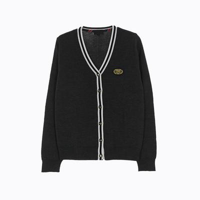[교복아울렛] 차콜 흰색줄 가디건 (연북중) 교복