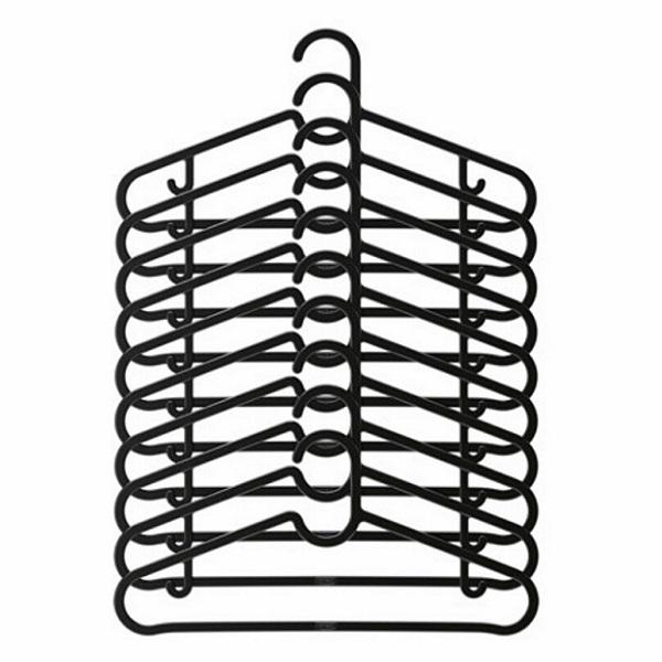 SPRUTTIG 옷걸이-블랙10개 - 이케아, 4,900원, 행거/드레스룸/옷걸이, 옷걸이/플라스틱