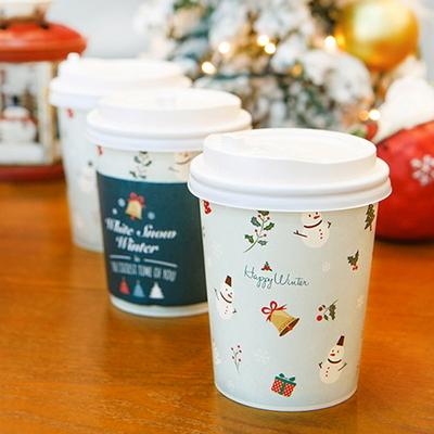 (대용량) 크리스마스 종이컵 10온스 50개