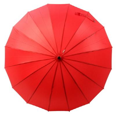 보그 프리미엄 수동 장우산(양산겸용) - VG0116_1 (솔리드레드)