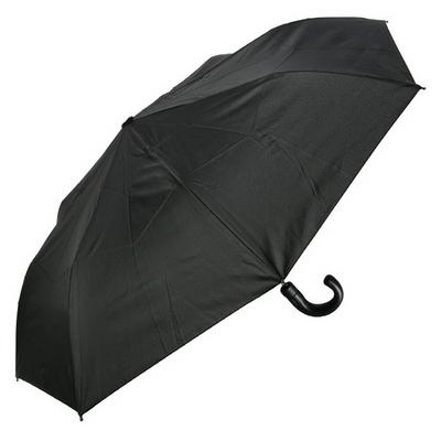 [rain s.] 프리미엄 곡자 핸들 3단 반자동 우양산 - R796_BLACK
