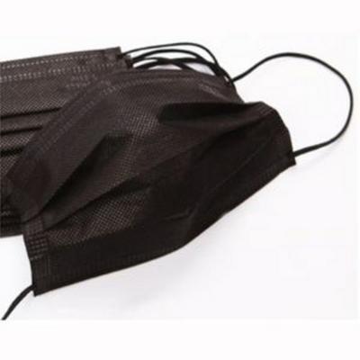 블랙 일회용마스크 해외의료납품용 일회용마스크(50매단위) 성인용 위생마스크