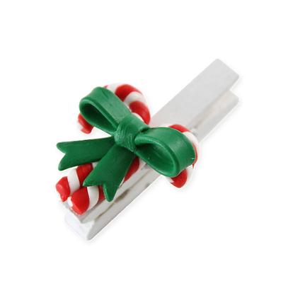 크리스마스소품  (클레이) 지팡이 집게
