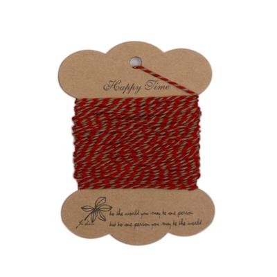 스트링시리즈3(트와인) 레드+카키 -포장끈
