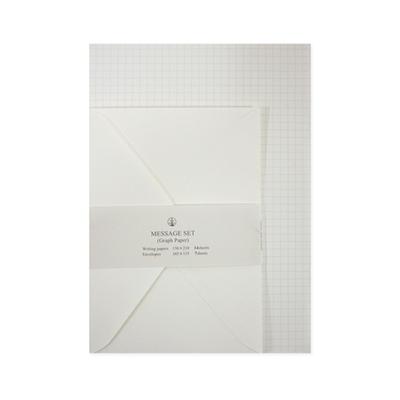 편지지_그래프메세지세트(모눈종이편지지)