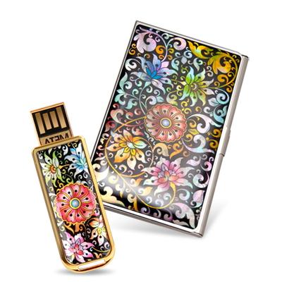 제이메타 S1 골드 자개 명함케이스 세트-16GB