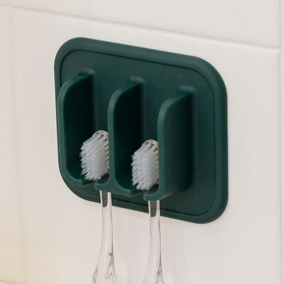 국산 실리콘 흡착 칫솔꽂이 욕실 거치대 홀더 화장실