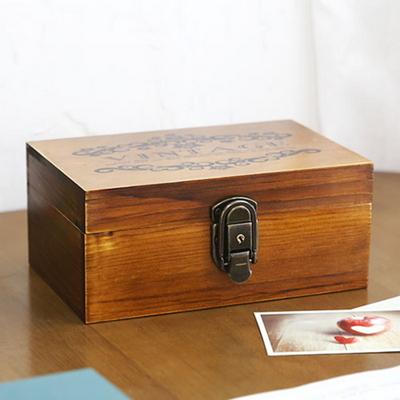 빈티지 레터링 자물쇠 우드 박스 Ver.2