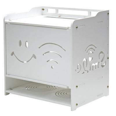 공유기 정리함 3단 셋톱박스 모뎀 멀티탭 수납장