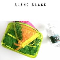 블랑블랙 PVC 트래블 패턴 파우치(옐로우)