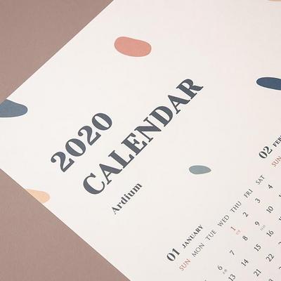 2020 포스터 365 캘린더 조약돌