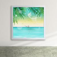 cw114-햇살비추는바다여름의향기액자벽시계_디자인액자시계