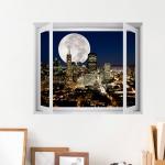 cw798-달이빛나는캘리포니아의야경_창문그림액자(중형)