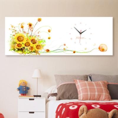 아름다운꽃과함께_옐로우_대형노프레임벽시계