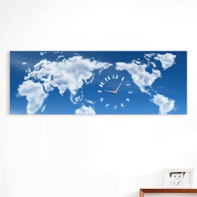 구름세계지도_대형노프레임벽시계