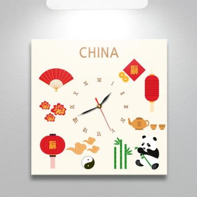 중국의아이콘_노프레임벽시계