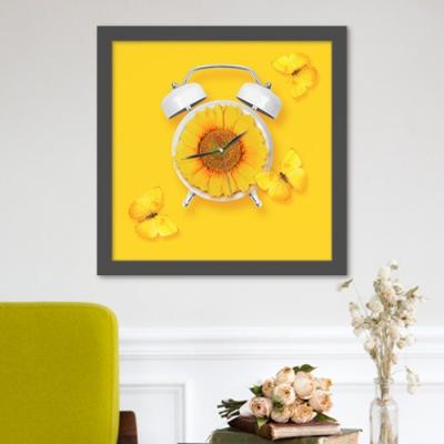 해바라기와나비_액자벽시계
