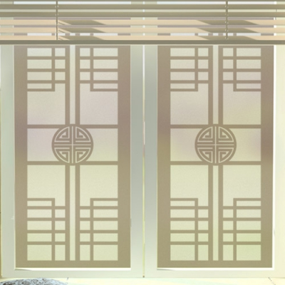 전통창호문양_유리문시트지