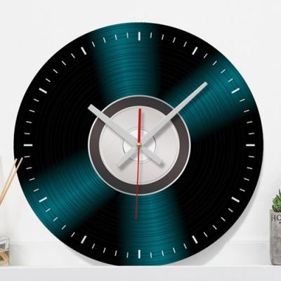 엘피판일러스트_인테리어벽시계