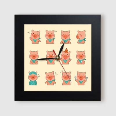 동물들의귀여운감정표현_미니액자벽시계