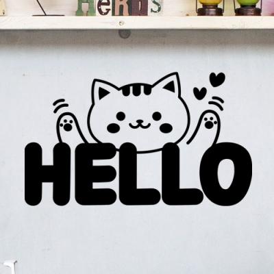 귀여운동물헬로우(대형)_그래픽스티커