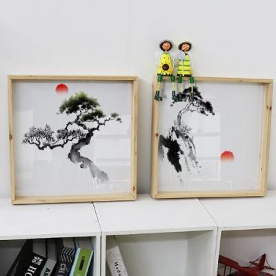 우드프레임액자_해와소나무