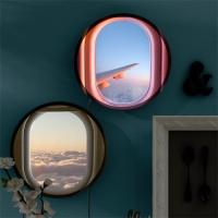 LED액자25R_비행기창문밖하늘풍경