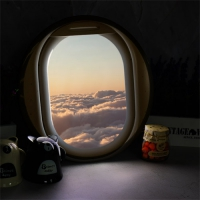 LED액자35R_비행기창문밖하늘풍경