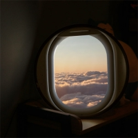 LED액자45R_비행기창문밖하늘풍경