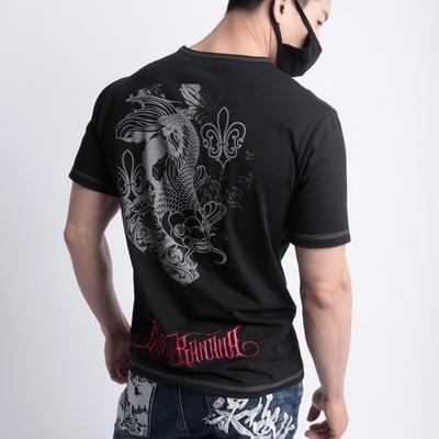 그린바나나 남자 반팔 티셔츠 east_touch_black