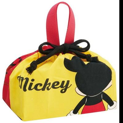 뒷모습 미키 미니 도시락 주머니 가방