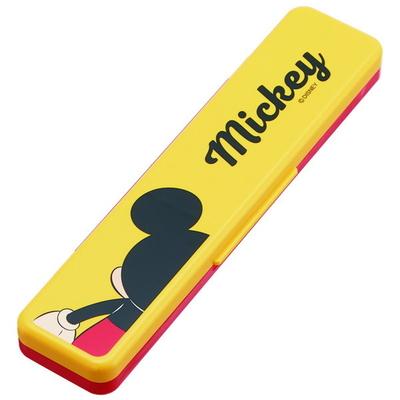 뒷모습 미키 미니 소음방지 수저세트(케이스 포함)
