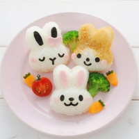 귀여운 토끼 주먹밥 만들기 모양 틀 세트