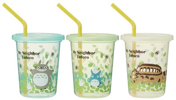 토토로 뚜껑 빨대컵 3p - 부비캣, 11,500원, 머그컵, 플라스틱 컵