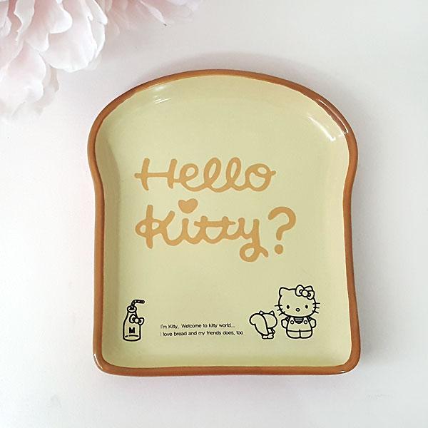 헬로키티 식빵 도자기 입체 접시 플레이트 - 부비캣, 11,570원, 접시/찬기, 접시