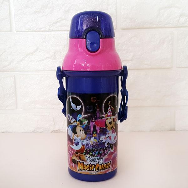 디즈니랜드 한정판 매직캐슬 원터치 어깨끈 물병(끈달린 어린이집 소풍 물통) - 부비캣, 16,900원, 피크닉도시락/식기, 컵/물병