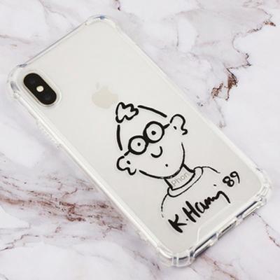스키누 키스해링 투명젤리케이스 아이폰 외 갤럭시S8 S8+ 노트8 9