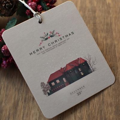 디비디 크리스마스 테그 세트 -Snow Village
