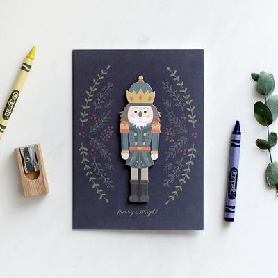 크리스마스 카드 - Wooden