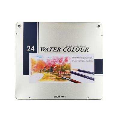 문화연필 24색 수채색연필 (틴케이스)