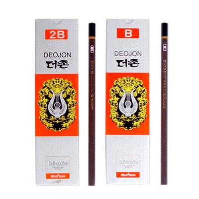 문화 더존연필 B 2B 연필 1타(12개)